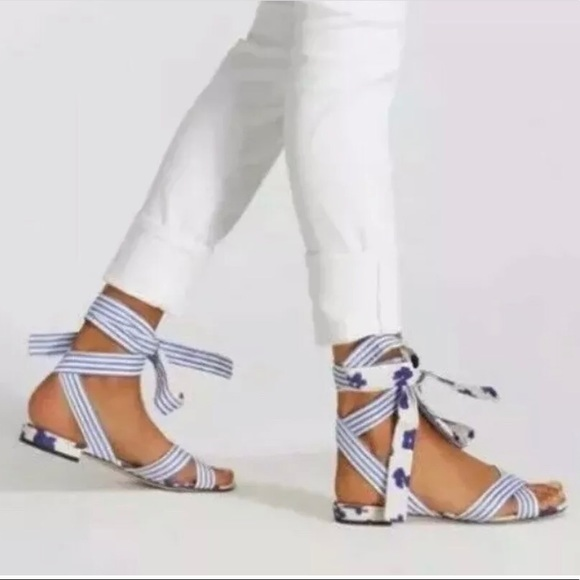 CAbi Shoes | Cabi Tied Up Sandals Size